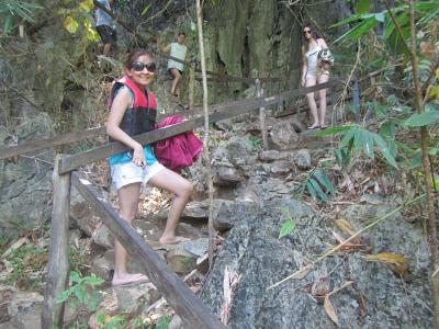 The trek to Kayangan Lake.