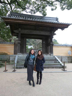 At the temple garden with Chonx.