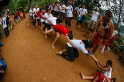 And as if the challenging trek was not enough -- we had to lose to the tug-of-war against the Ifugao women. Haha. Photo by PJ Enriquez